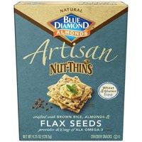 Blue Diamond Artisan Nut-Thins Almonds & Flax Seeds Cracker Snacks, 1 Ounce