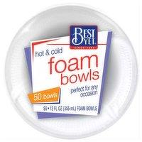 Best Yet Foam 12 Oz Bowl, 50 Each