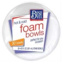 Best Yet Foam Bowl, 20oz, 30 Each