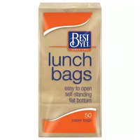 Best Yet Paper Lunch Bags, 50 Each