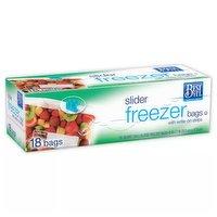 Best Yet Freezer Bags Quart Slider, 18 Each