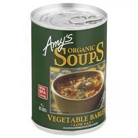 Amy's Organic Vegetable Barley Soup, Low Fat, 14.1 Ounce