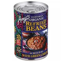 Amy's Organic Refried Pinto Beans with Green Chili, 15.5 Ounce