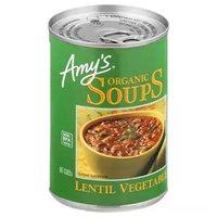 Amy's Organic Lentil Vegetable Soup, Low Sodium, 14.1 Ounce