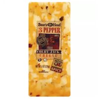 Boar's Head 3 Pepper Colby Jack Cheese, Spicy, 8 Ounce