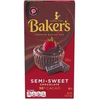 Baker's Premium Baking Chocolate Bar, Semi-Sweet 56% Cacao, 4 Ounce