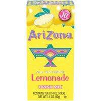 Arizona Powdered Drink Mix, Lemonade, 10 Each