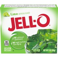 Jello Lime Instant Gelatin Mix, 3 Ounce