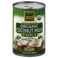 Native Forest Organic Simple Coconut Milk, Unsweetened, 13.5 Ounce