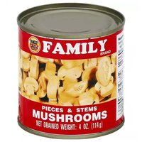 Family Mushrooms Stems & Pieces, 4 Ounce