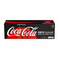Coca Cola Zero Sugar, Cans (Pack of 12), 12 Ounce