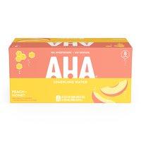 Aha! Peach Honey, Cans (Pack of 8), 12 Ounce