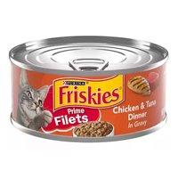 Purina Friskies Gravy Wet Cat Food, Prime Filets Chicken & Tuna Dinner In Gravy, 5.5 Oz, 5.5 Ounce