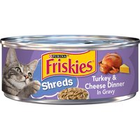 Friskies Gravy Wet Cat Food, Shreds Turkey & Cheese, 5.5 Ounce