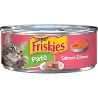 Purina Friskies Pate Wet Cat Food, Salmon Dinner, 5.5 Ounce