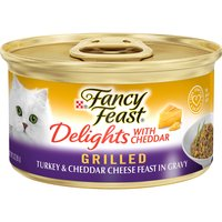 Fancy Feast Delights Grilled Turkey & Cheddar Cheese, 3 Ounce