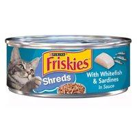 Friskies Savory Shreds, Whitefish & Sardines, 5.5 Ounce