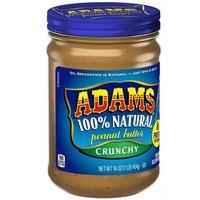 Adam's Peanut Butter, Crunchy , 16 Ounce