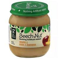 Beech Nut Baby Food, Apple, Pear & Banana, Stage 2, 4 Ounce