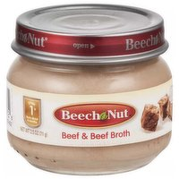 Beechnut Baby Food, Beef & Broth, Stage 1, 2.5 Ounce