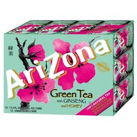 Arizona Green Tea, Cans (Pack of 12), 11.5 Ounce