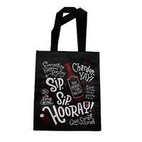 Foodland Dual Wine Bag, Black, 1 Each