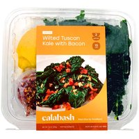 Calabash Wilted Tuscan Kale with Bacon, 14 Ounce