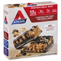 Atkins Advantage Granola Bar, Chocolate Chip, 5 Each