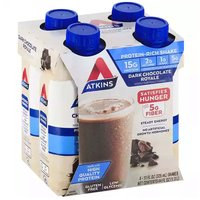 Atkins Protein Rich Shakes, Dark Chocolate Royal (Pack of 4), 4 Each