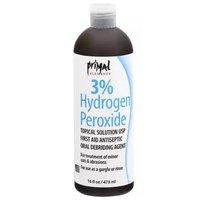 Primal Hydrogen Peroxide, 3% , 16 Ounce