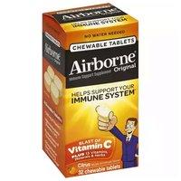 Airborne Chewable Tablets, Citrus, 32 Each
