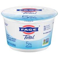 Fage Total Strained Whole Milk Greek Yogurt, Plain, 7 Ounce