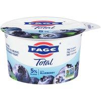 Fage Total Strained Whole Milk Greek Yogurt, Blueberry, 5.3 Ounce