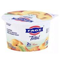 Fage Total 2% Milkfat Greek Strained Yogurt with Peach, 5.3 Ounce
