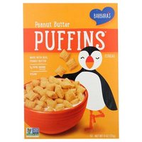 Barbaras Puffins Cereal, Peanut Butter, 11 Ounce