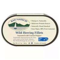 Bar Harbor Wild Herring Fillets, Seasoned With Cracked Pepper, 6.7 Ounce