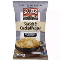 Boulder Canyon Kettle Sea Salt & Pepper, 5 Ounce