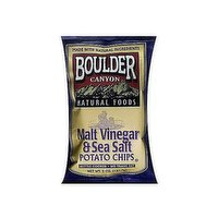 Boulder Canyon Potato Chips, Vinegar & Sea Salt, 5 Ounce