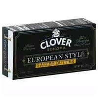 Clover European Style Butter, Salted, 8 Ounce