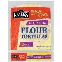Baja Cafe Flour Tortillas, Soft Taco, 18 Ounce