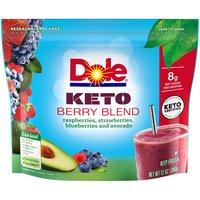 Dole Keto Berry Blend Frozen Fruit, 12 Ounce