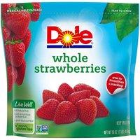 Dole Whole Strawberries, Frozen, 16 Ounce