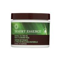 Desert Essence Facial Cleansing Pads, Tea Tree Oil, 50 Each