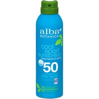 Alba Botanica Sunscreen Spray, Cool Sport, SPF 50, 6 Ounce