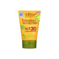 Alba Botanica Hawaiian Sunscreen Soothing Aloe Vera Spf 30, 4 Ounce