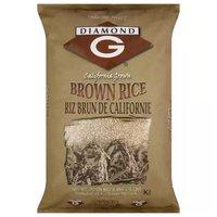 Diamond G Calrose Brown Rice, 15 Pound