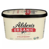 Alden Organic Ice Cream, Strawberry, 48 Ounce
