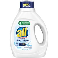 All Liquid Laundry Detergent with Stain lifters, Free Clear , 36 Ounce