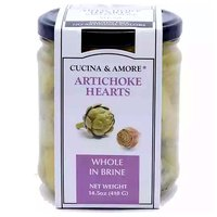 Cucina & Amore Artichoke Hearts, Whole in Brine, 14.5 Ounce