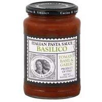 Cucina & Amore Basilico Italian Tomato Basil & Garlic Sauce, 16.8 Ounce
